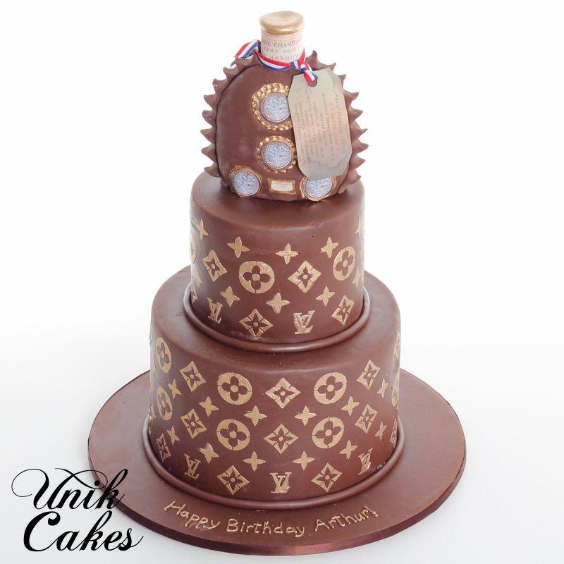 Louis Xiii Remy Martin Cognac Bottle 40th Birthday Cake