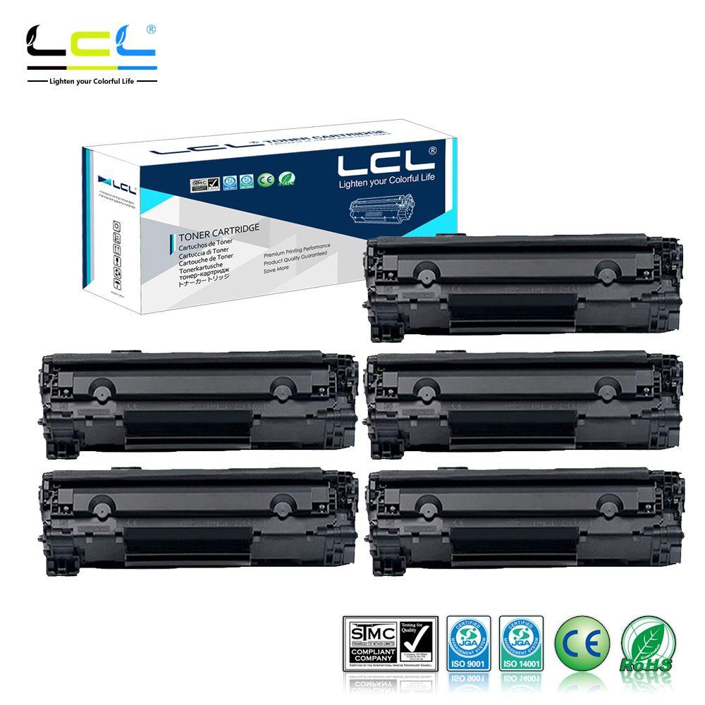 Lcl 85a Ce285a Ce285 285a Ce 285 A 85 5 Pack Black Toner Cartridge Hp Compatible