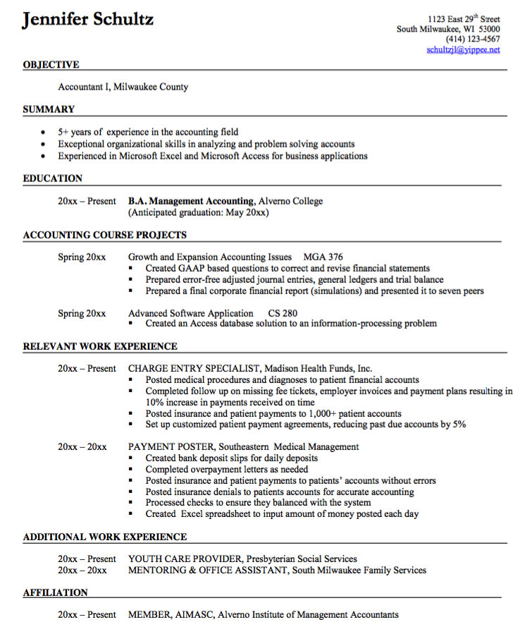 Accounting Specialist Resume Unique Accountant Resume Format Sample  Httpexampleresumecv .