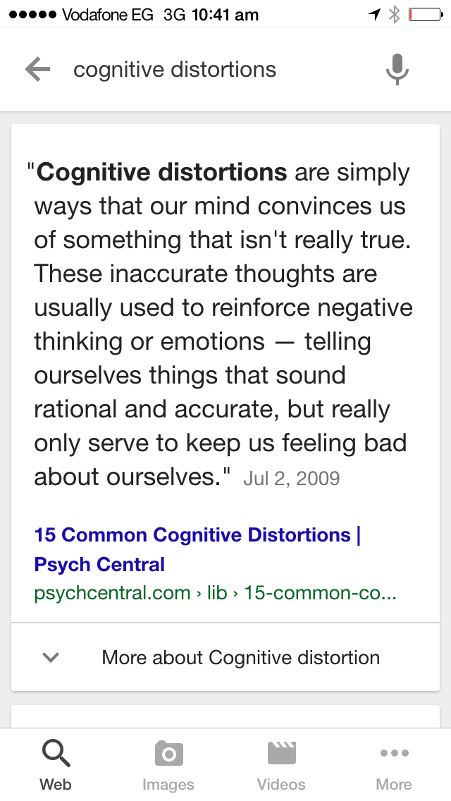 Cognitive Distortions Whats Between The Person You Are The