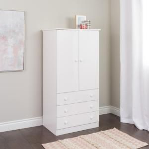 Prepac Edenvale White Armoire JWD-3060-K at The Home Depot - Mobile