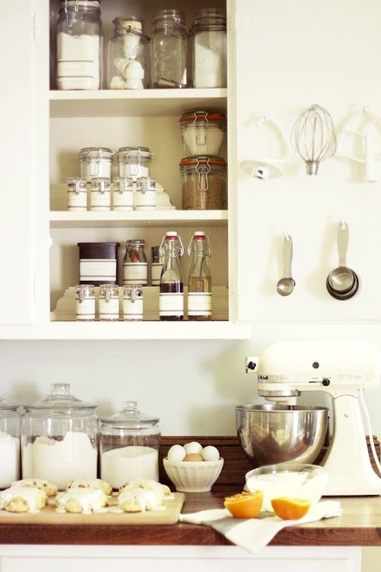 Organized kitchen cabinet with glass jars and bottles domestic organized kitchen cabinet with glass jars and bottles workwithnaturefo
