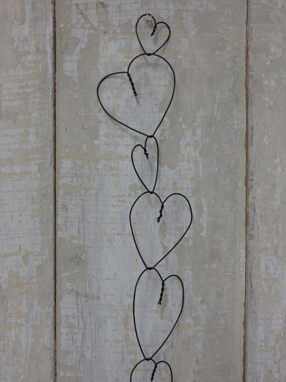 Wire Heart Garland Van Chareststudios Op Etsy Hartjes