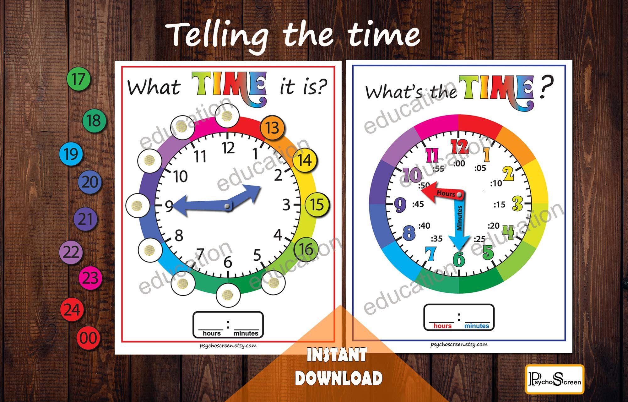 Clock Unit Study Telling The Timeog And Digital Clock