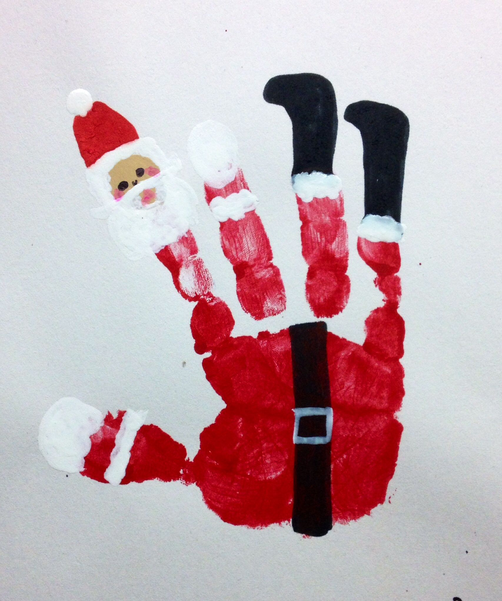 Handprint Christmas, Christmas Crafts