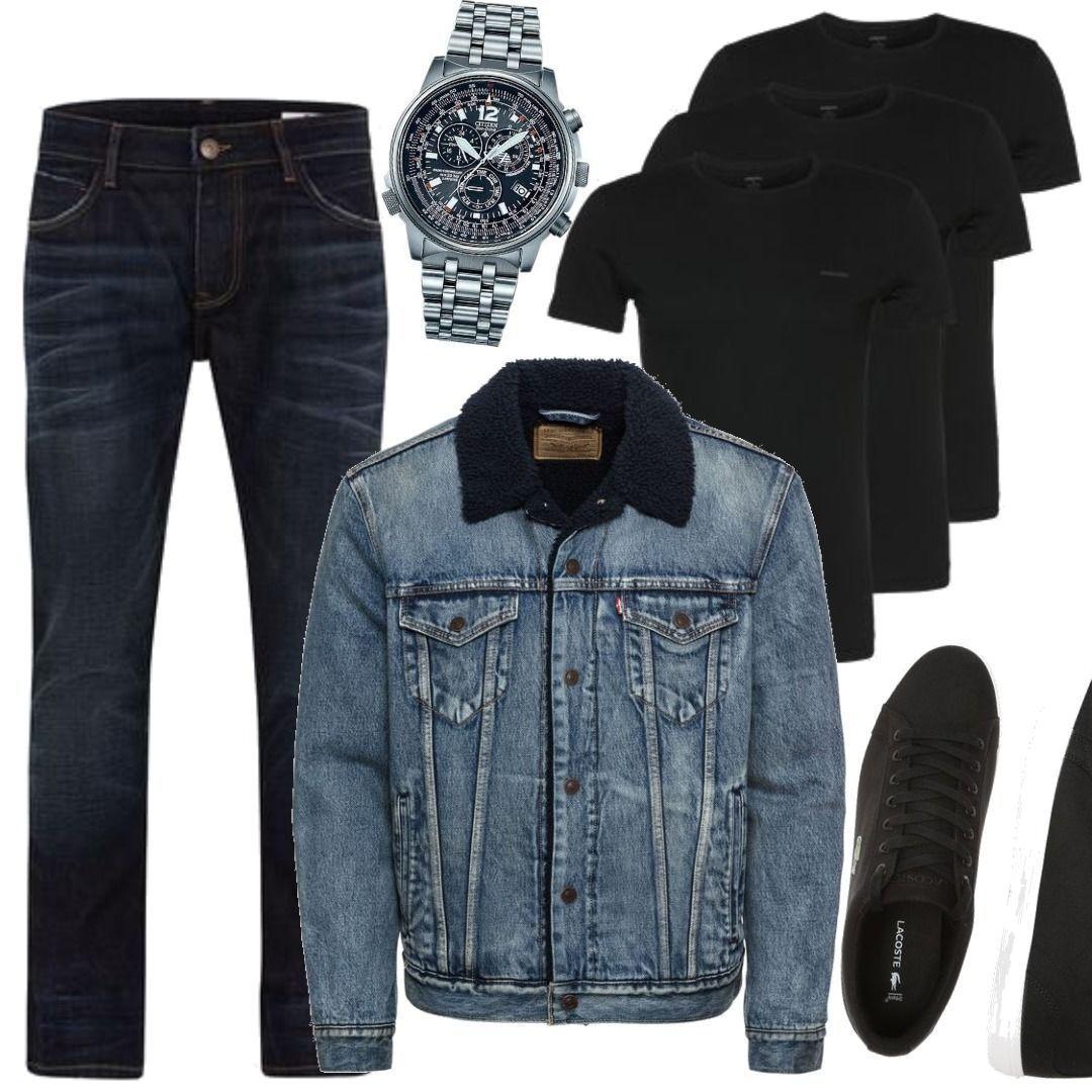 Levi's Jeansjacke blau Casual Look