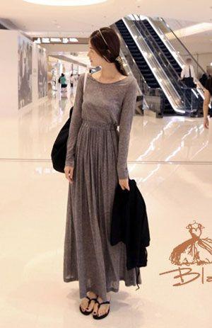 Maxi dress frumpy women