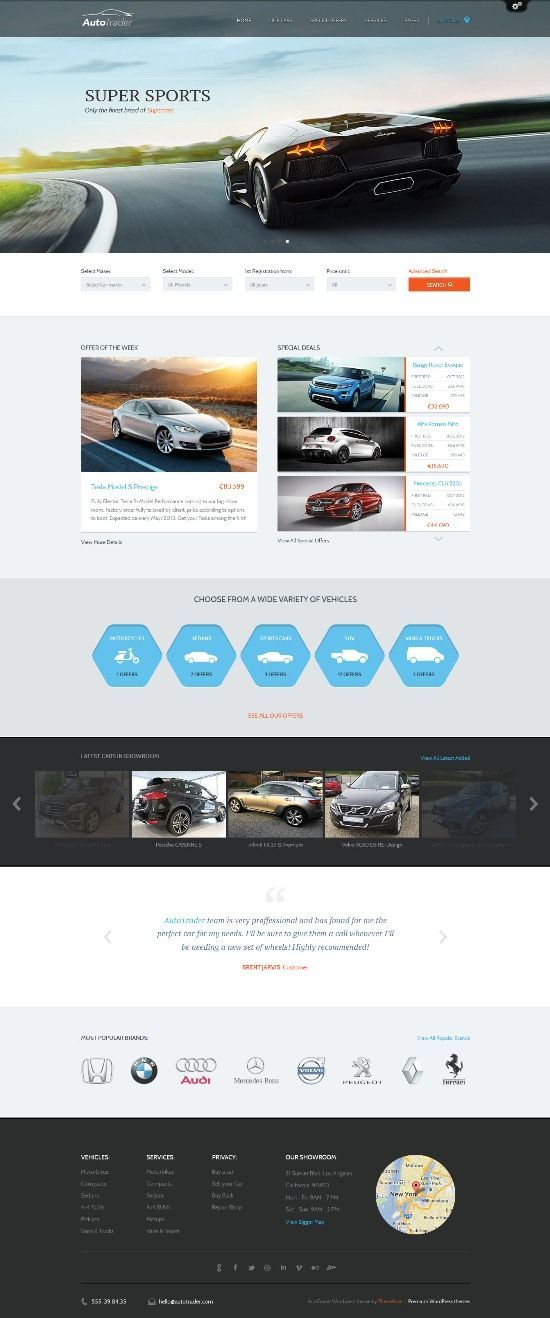 Auto Trader Theme to showcase your online vehicle business ...