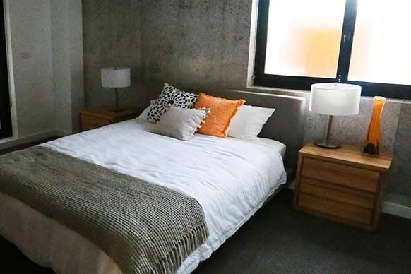 Wallpaper Inspiration: Concrete Wallpaper from Channel 9's The Block. Buy here: www.removablewallpaper.com.au
