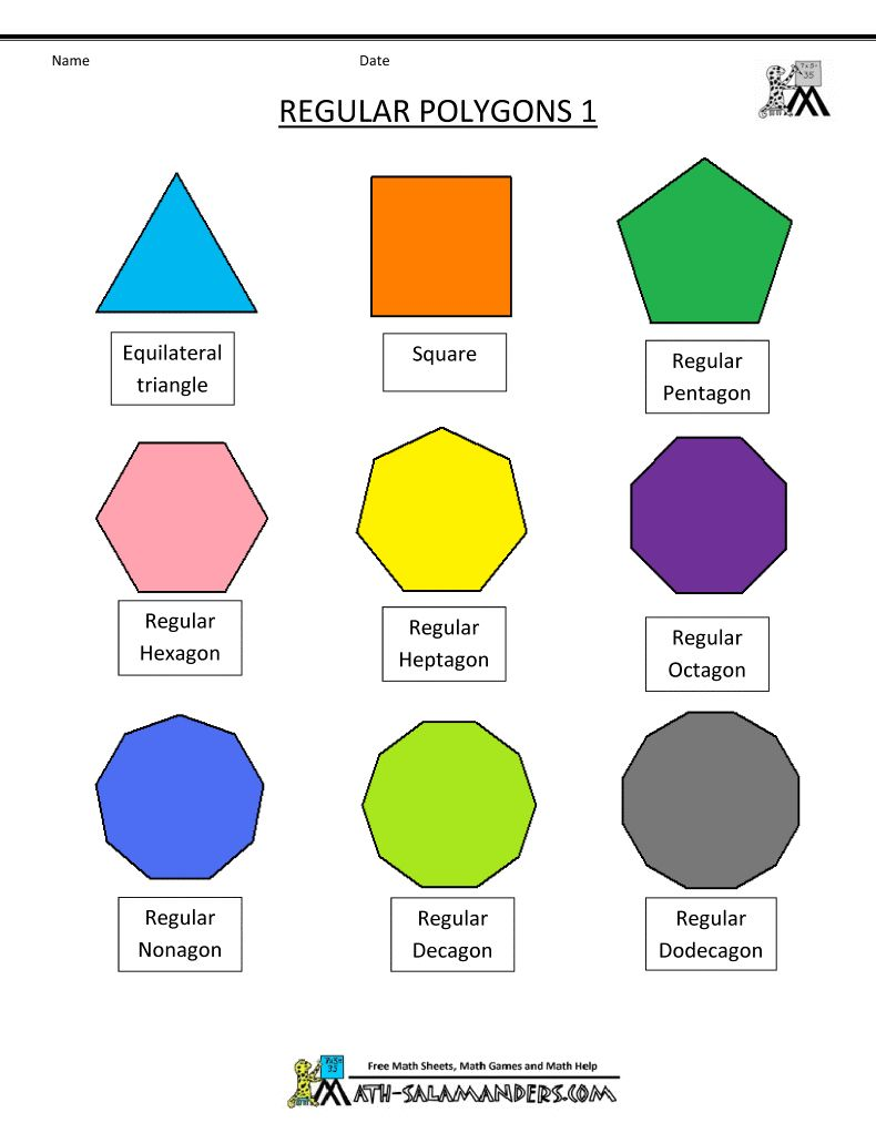 worksheet Shapes And Their Names polygon shapes designs pinterest shapes