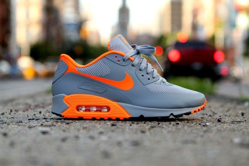 nike air max 90 hyperfuse orange and grey