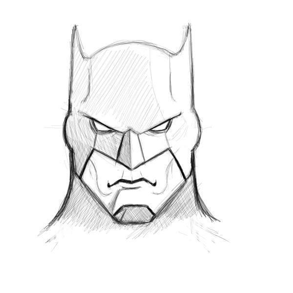 Pin By Blaire De Victoria On Cartoon Sketch Batman Drawing Drawing Superheroes Batman Drawing Easy