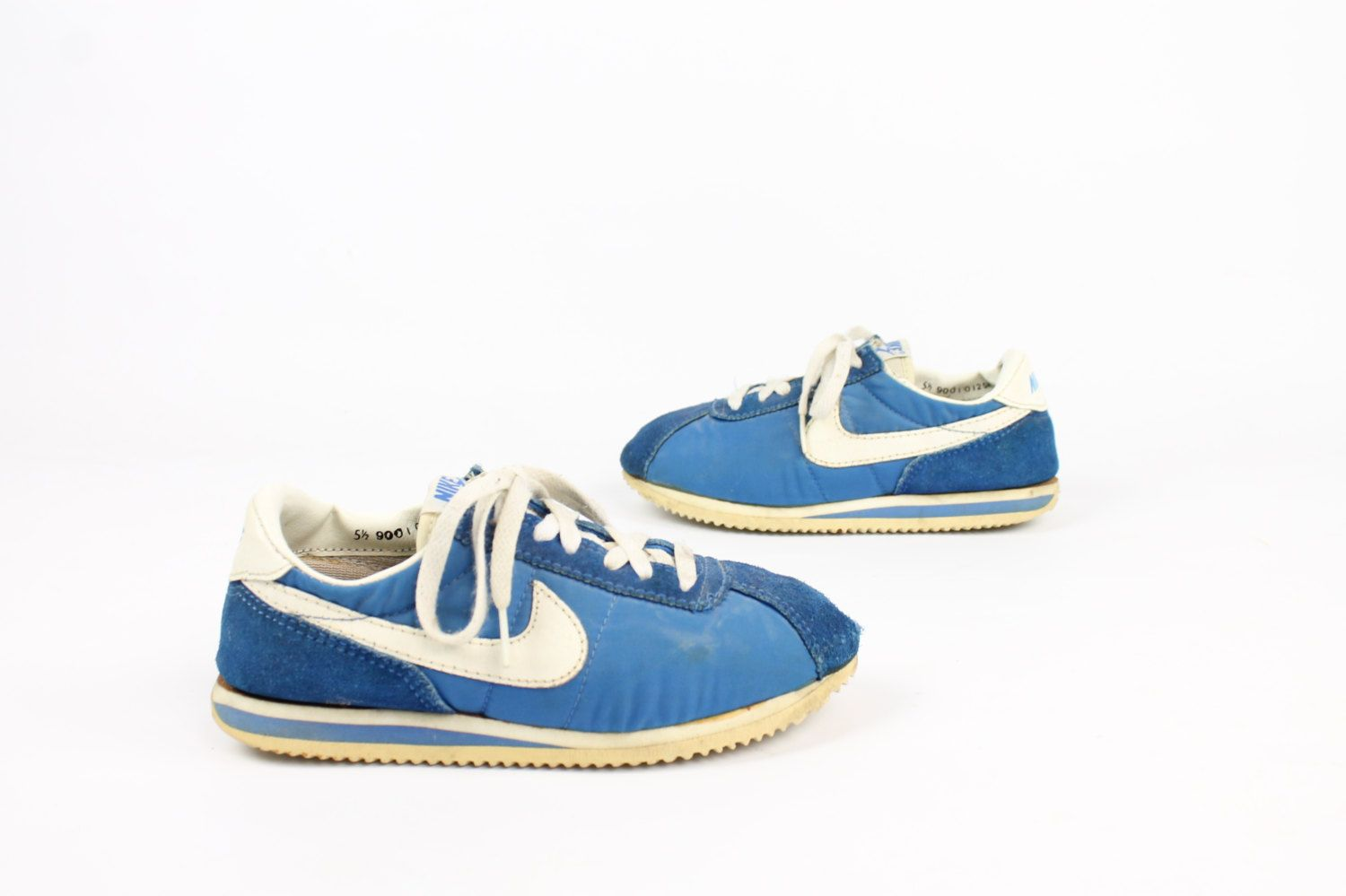 huge discount 84c2e 129db 52, Vintage 90s Nike Cortez Running Shoes Sneakers Blue Suede Nylon 1990s  5.5 6.5 by ScarletFury on Etsy