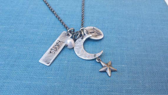 I love you to the Moon & Back Custom Necklace by MyBella  www.Facebook.com/MyBellaByLizLollar