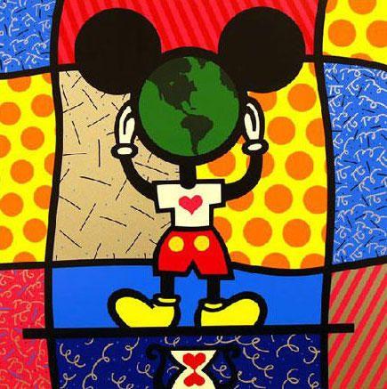 Romero Britto Mickey S World Romero Britto Britto Romero