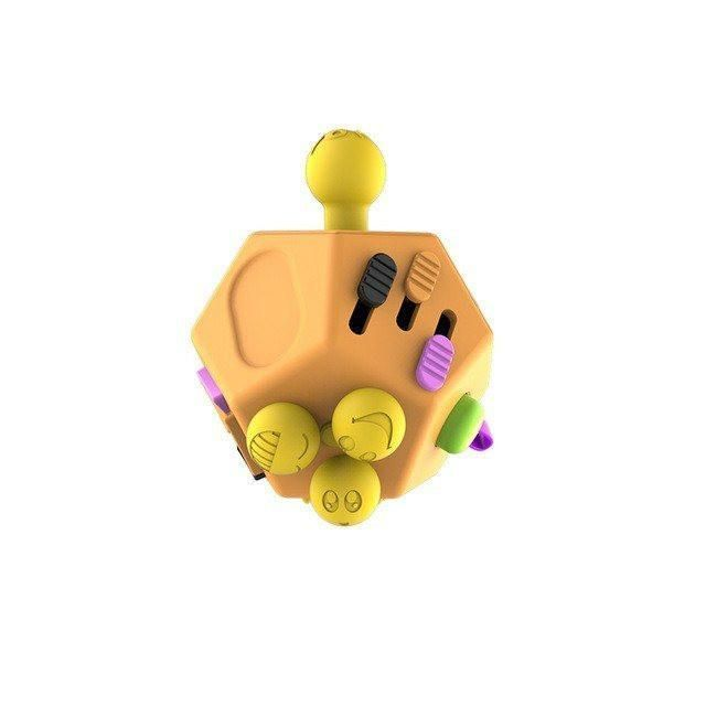 12 Sided Fidget Cube Fidget Cube Stress Relief Toys How To Relieve Stress