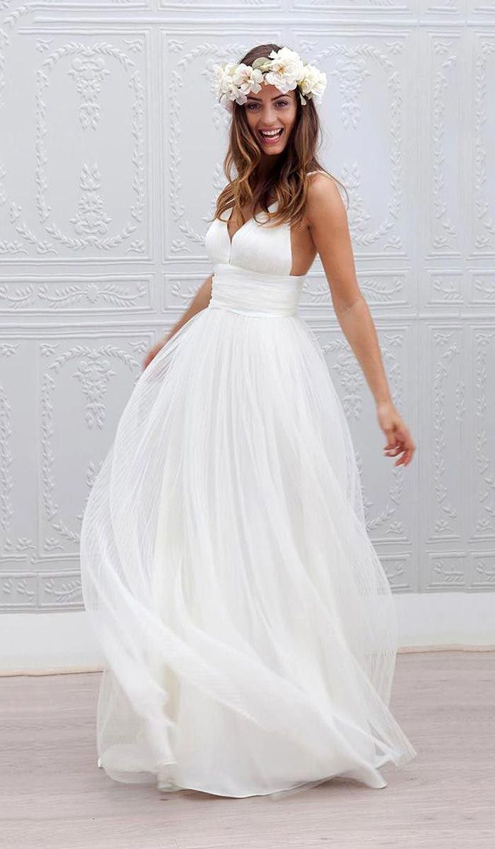 beach wedding dresses idea  Marie Laporte Yes pls. Casamento de dia na  praia - vestido Mais e142597eb709