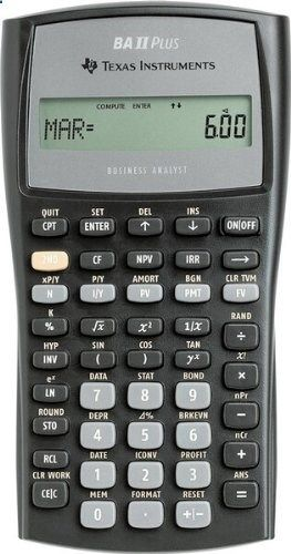 Texas Instruments BAIIPLUS - BAIIPlus Financial Calculator, 10-Digit