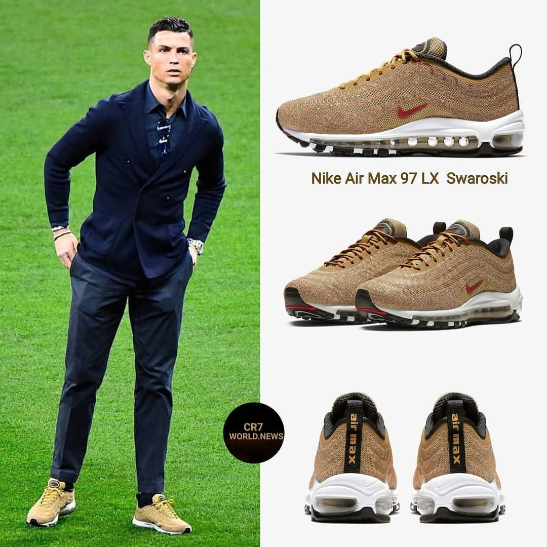 lower price with first look official images 👟Cristiano wearing Nike Air Max 97 LX Swaroski