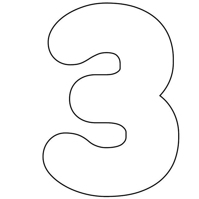 image relating to Number 3 Printable named Its as Very simple as 1-2-3 toward Employ Absolutely free Printable Quantities Electronic