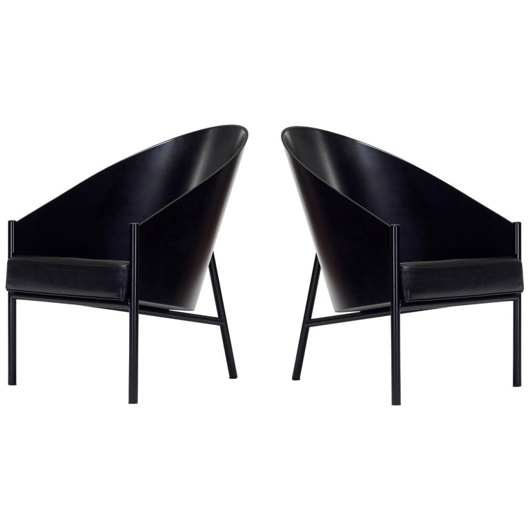 Brilliant 1980S Philippe Starck Pratfall Lounge Chairs In Black Pabps2019 Chair Design Images Pabps2019Com