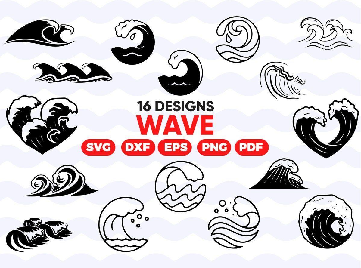 WAVE SVG, waves svg, beach svg, wave clipart, ocean svg