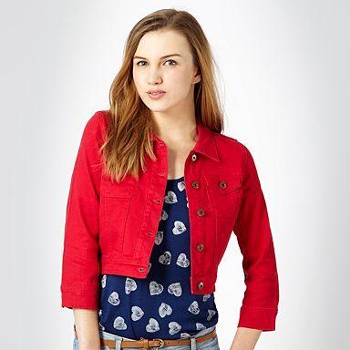 Red denim jacket - Jackets - Coats & jackets - Women -