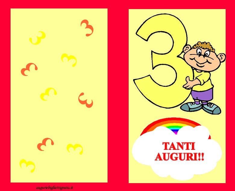 Auguri Di Compleanno Per Bambini Che Compiono 3 Anni Auguri E Biglietti Gratis Nel 2020 Auguri Di Compleanno Biglietti Di Compleanno Compleanno
