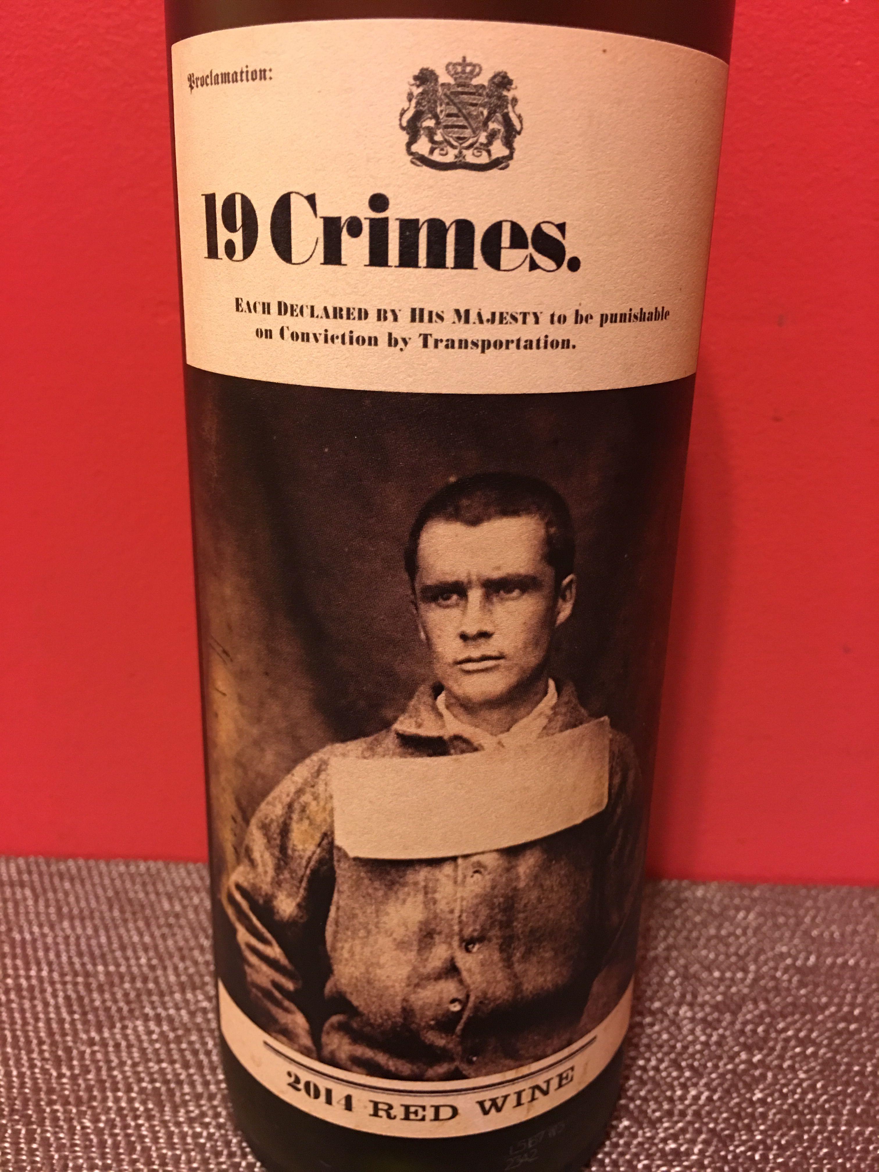 19 Crimes Red Wine Crime Wine Cooler Wine