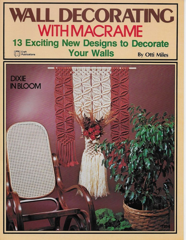 Vintage Macrame Plant Hangers Pattern Book Double Plant Holder Portraits Vol 6 Roberts Ric Rak Digital Download PDF