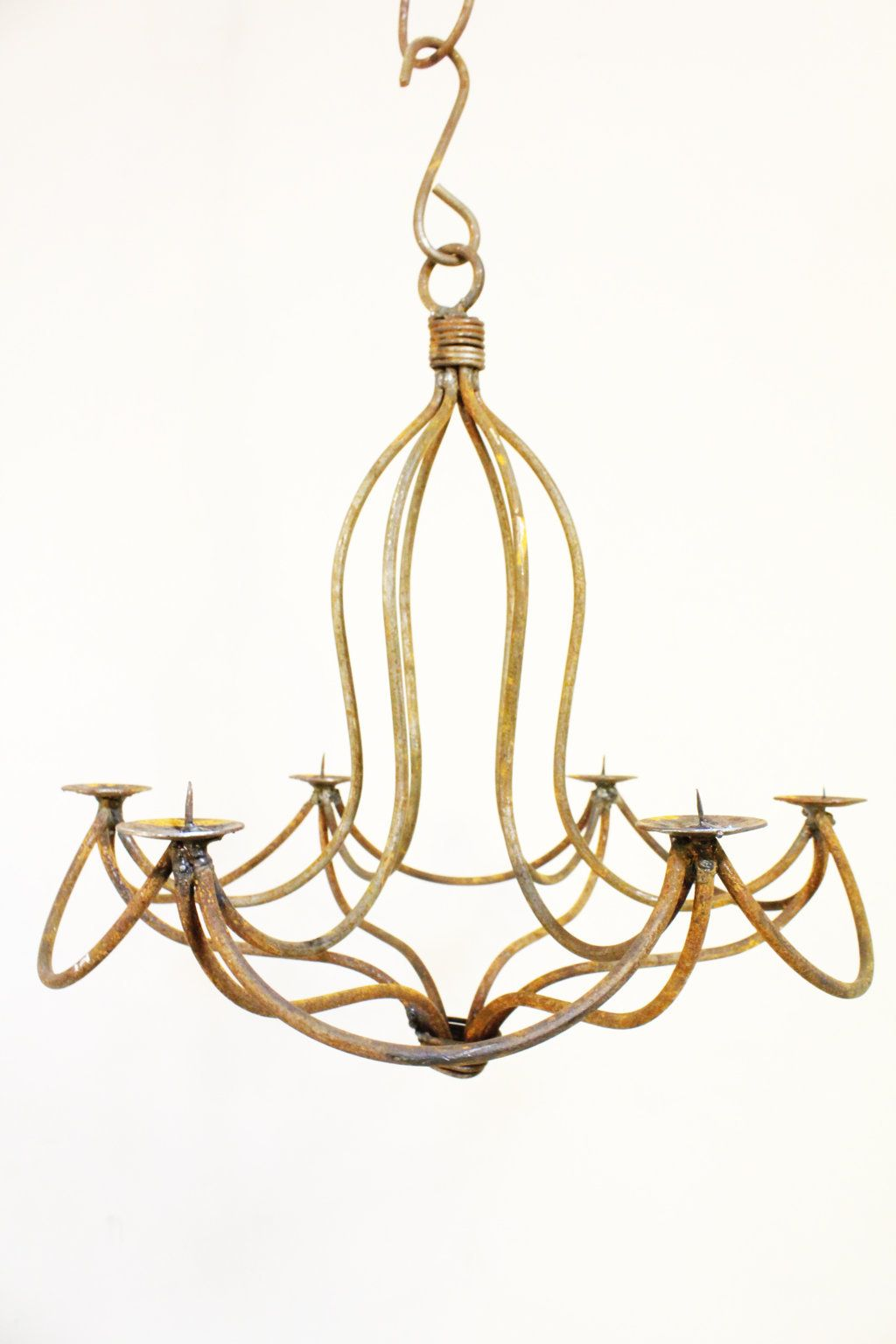 18 Wrought Iron Mini Drape Chandelier Candle Lighting Small