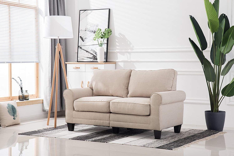 amazon living room sofa bedroomwith rubber wood