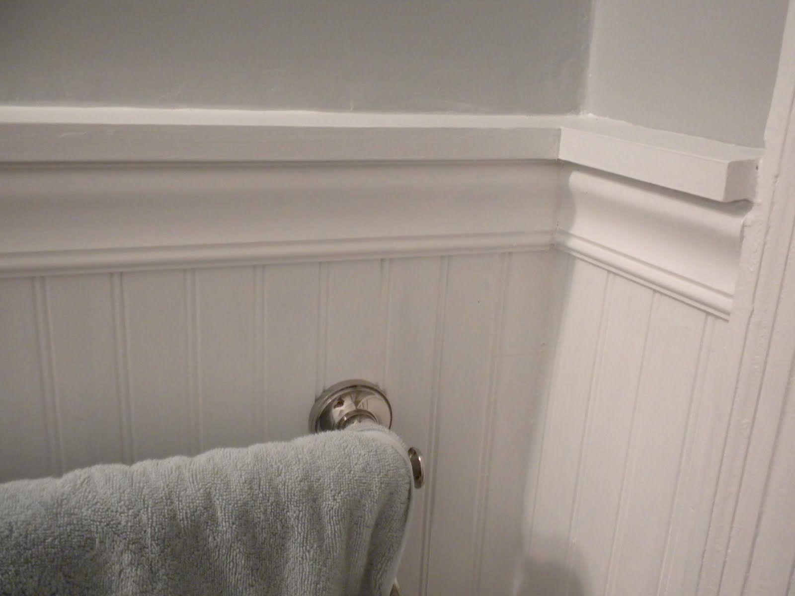 Bathroom Chair Rail Home Bathroom Reno Ideas Pinterest