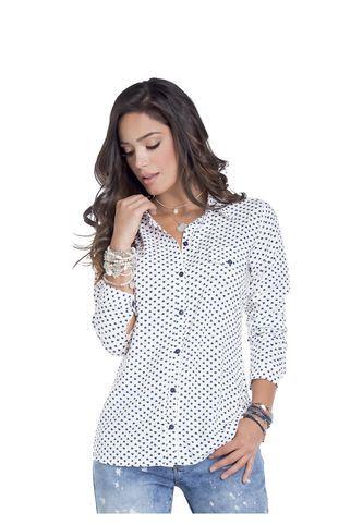 5989858a8 Camisa Adulto Femenino Blanco Estampado Marketing Personal 62071 ...