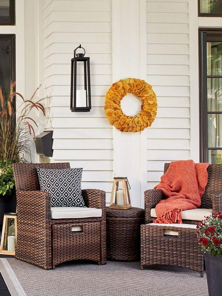 deco veranda exterieur automne deco idee terrasse