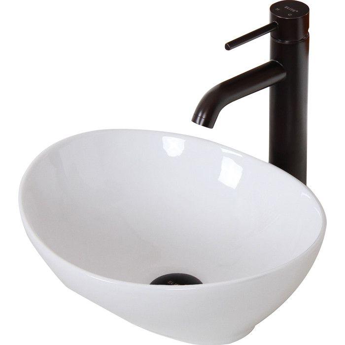 Elite Ceramic Boatshaped Bathroom Sink & Reviews  Wayfair Amazing Wayfair Bathroom Sinks 2018