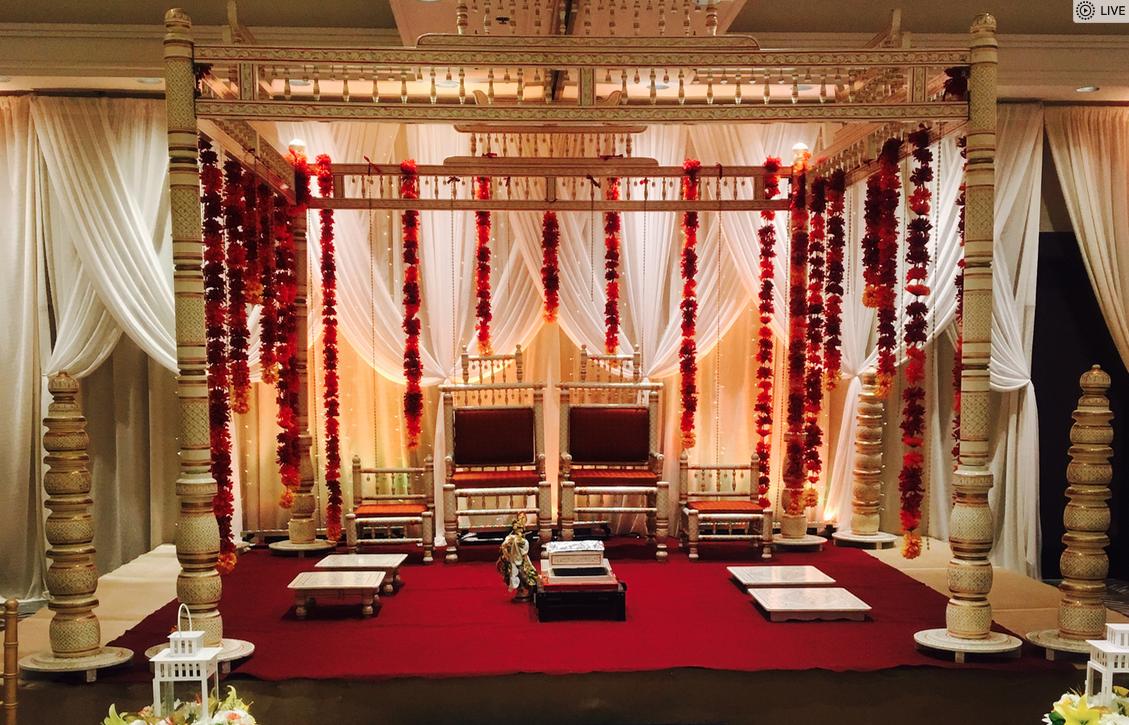 Chuppah Mandaps One Stop Wedding Shop Wedding Mandap Wedding Mandap Wedding Stage Decorat In 2020 Peach Wedding Invitations Wedding Humor Indian Wedding Receptions