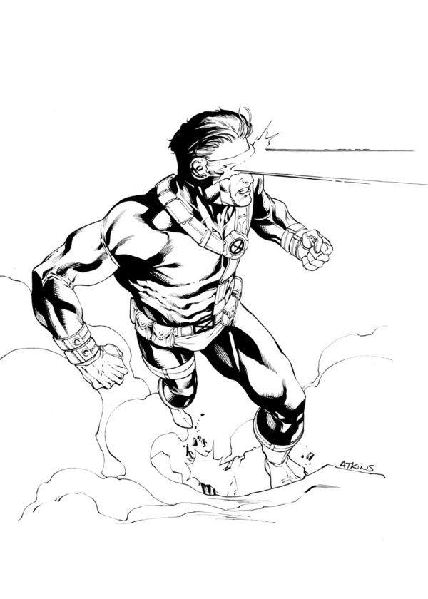 90s Cyclops Sotd Cyclops X Men Comic Art Sketch