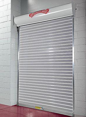 Overhead Door Security Grille Model 674 Overhead Door S Upward Coiling Perforated Grille Model 674 Provides An Attractive Yet F Commercial Doors Secur