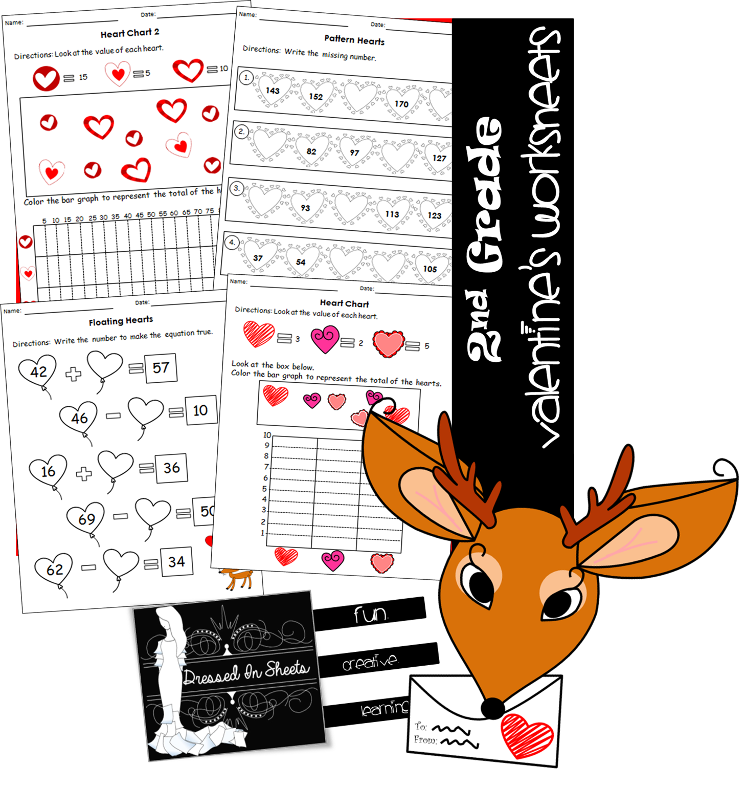 2nd Grade Valentine S Math Worksheets