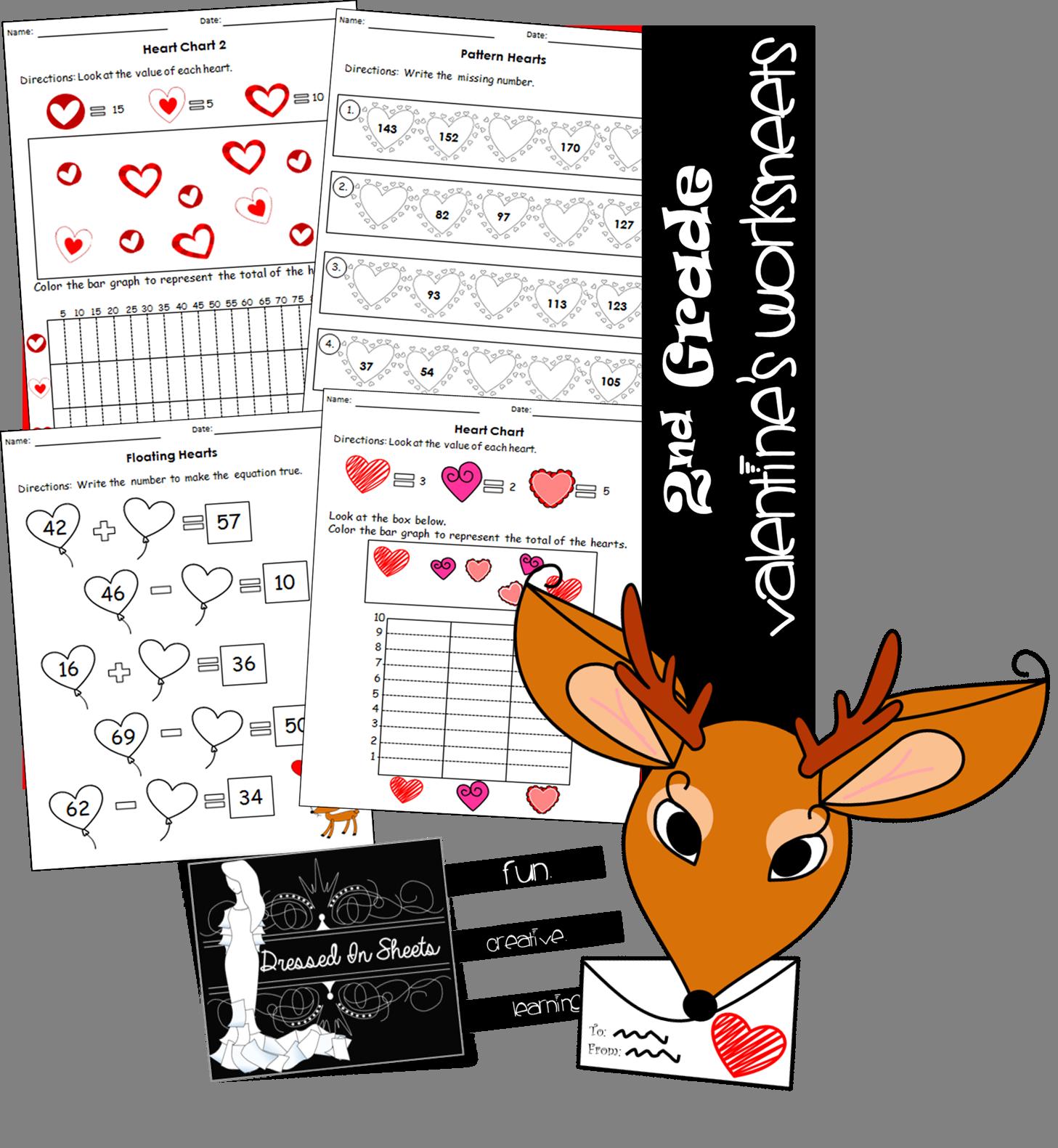 2nd Grade Valentine S Math Worksheets
