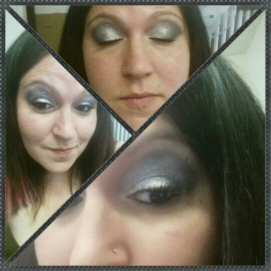 Younique Splurge Cream Shadow in Dainty with Devious pigment on the edges. Www.youniqueproducts.com/hollieburlack