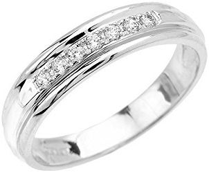 Jewelry Men S 10k White Gold Diamond Wedding Band Mens White Gold Rings Gold Diamond Wedding Band Diamond Wedding Bands