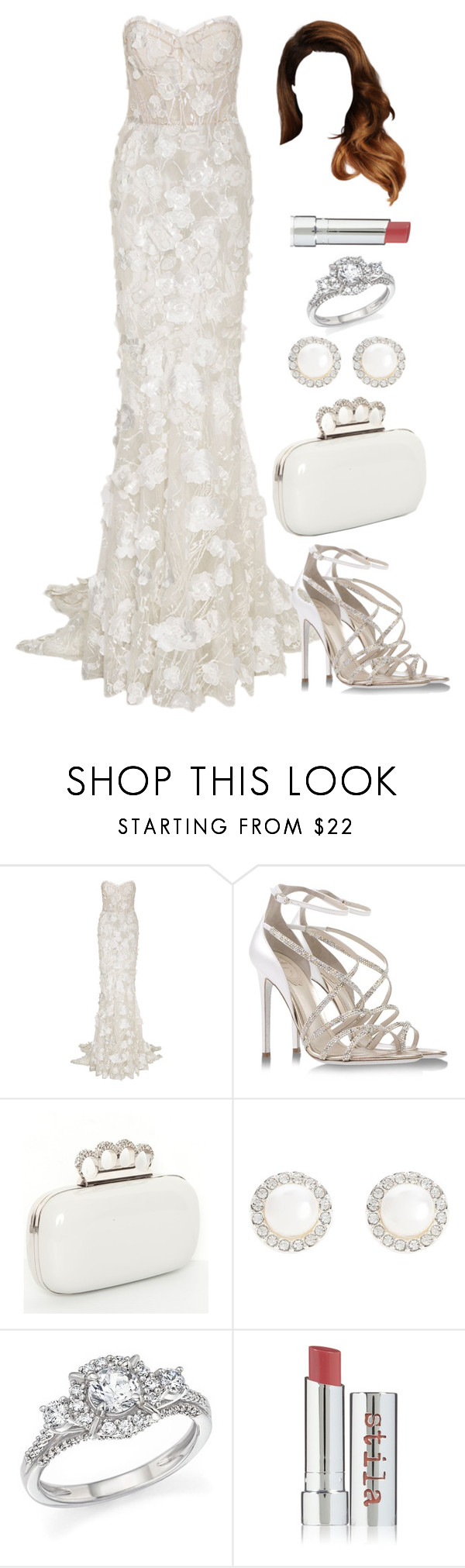 """""""Untitled #4166"""" by natalyasidunova ❤ liked on Polyvore featuring René Caovilla, Snö Of Sweden, Bloomingdale's and Stila"""