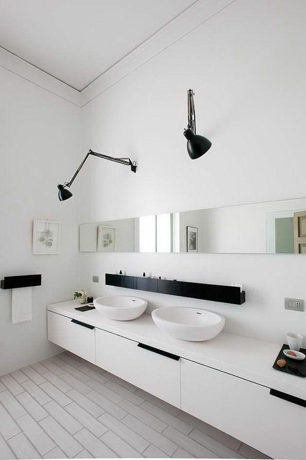 Lampe Badezimmer  die richtige Beleuchtung fr Ihr Badezimmer finden  Bathroom  Pinterest  Badezimmer Bad and Lampe badezimmer