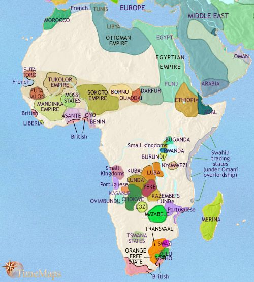 History map of Africa (3500 BC   2005 AD) | Ethniticity | Africa