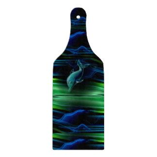 Liquid Vabrations Dolphin Neon Glas Cutting Board