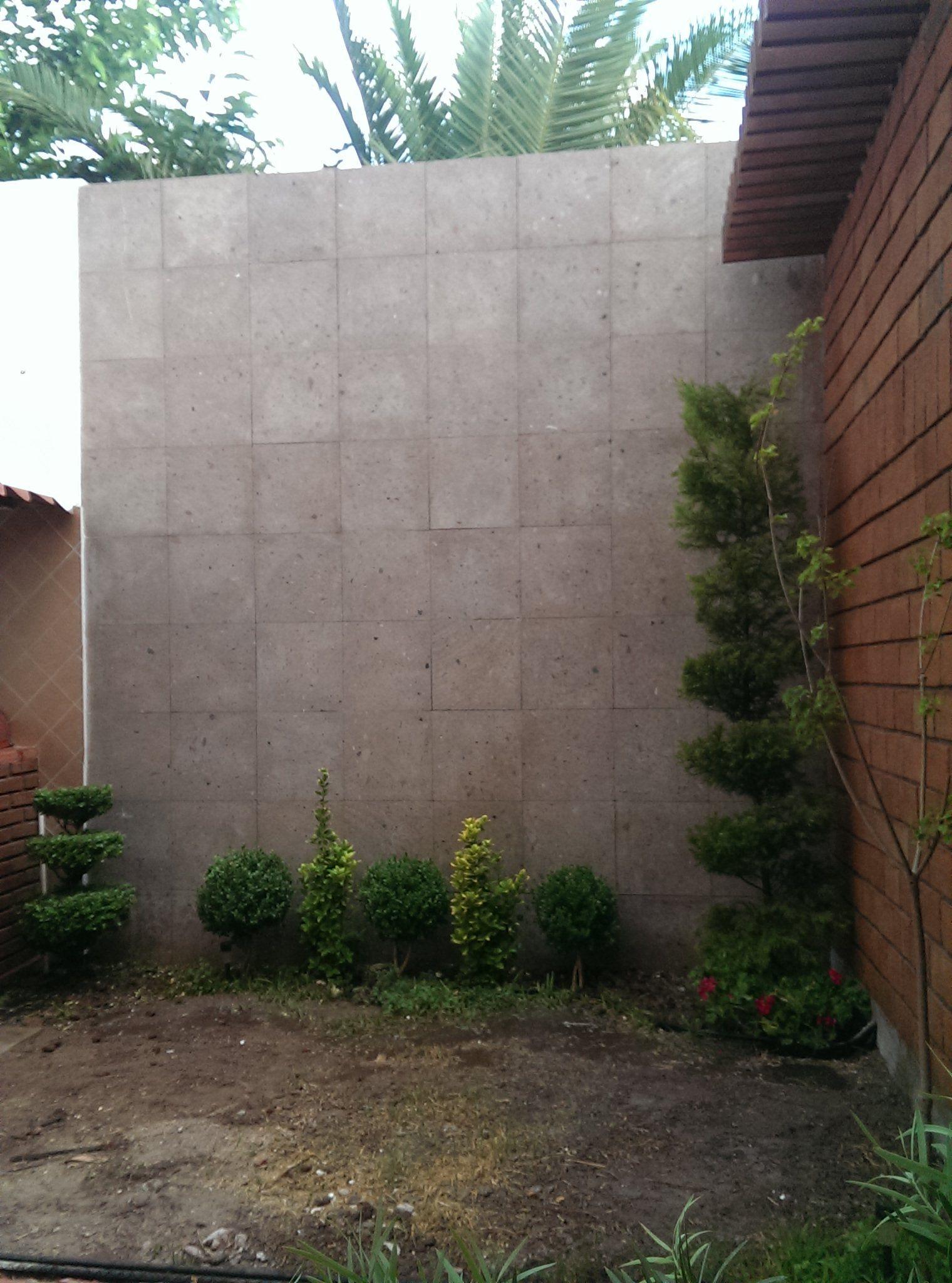 Muro de cantera muro de ladrillo pergola muros - Decoracion muros exteriores ...