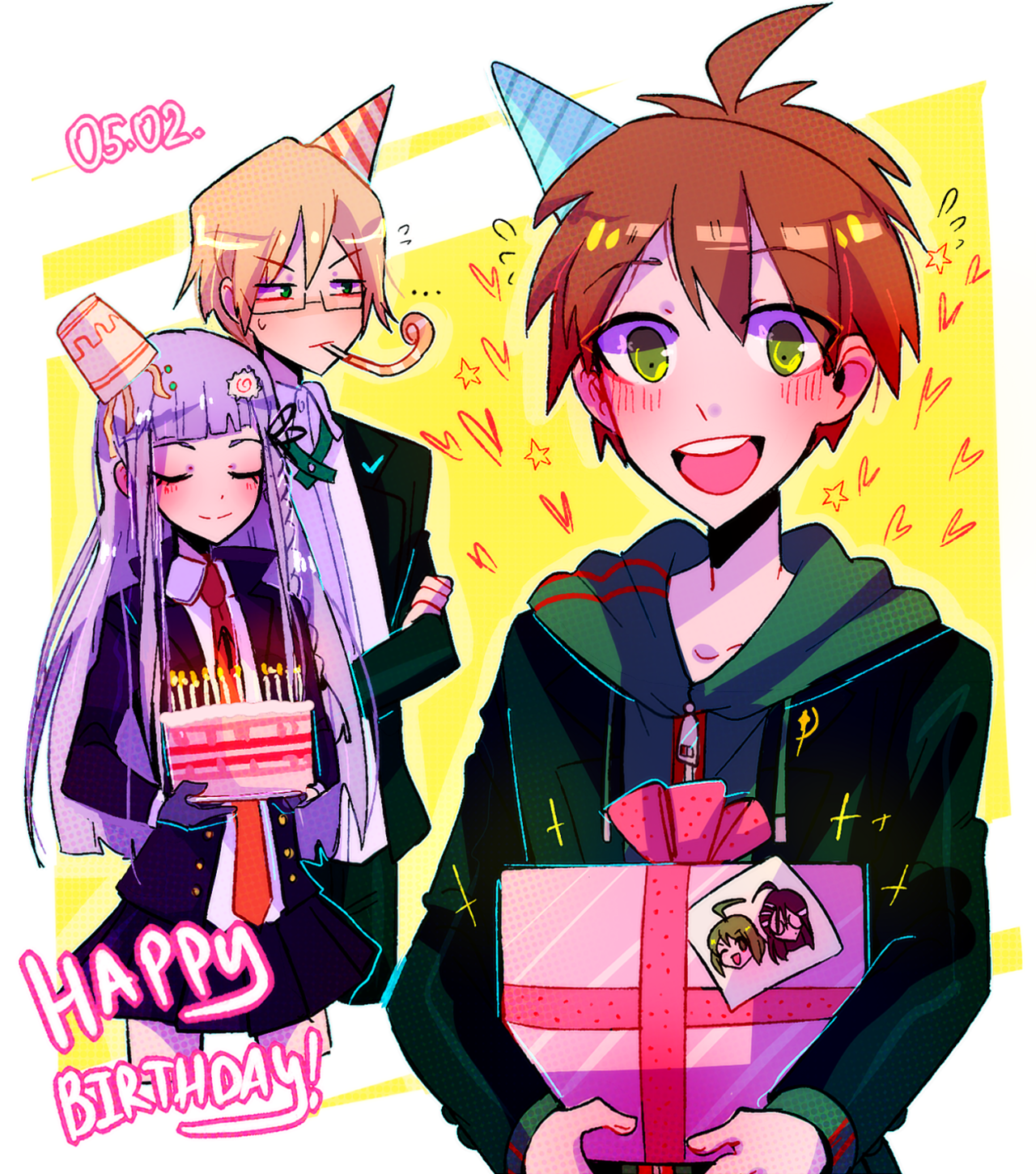 "huyandere ""happy birthday makoto!!! "" Danganronpa"