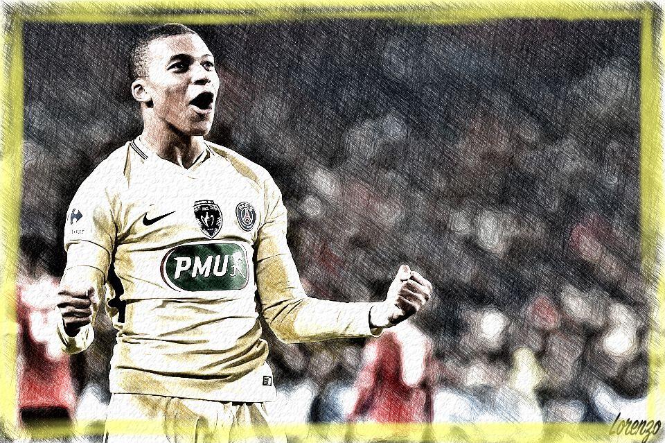 Kylian Mbappé Football PSG France Coupe de France Coupe